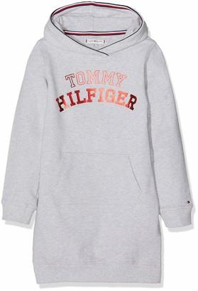Tommy Hilfiger Girl's Essential Logo Hoodie Dress L/s