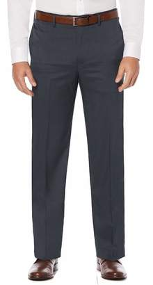 Savane Men's Big and Tall Flat-Front Stretch Crosshatch Dress Pant