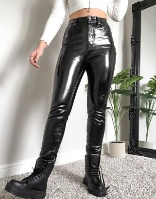 Free People Phoenix coate skinny jeans in black