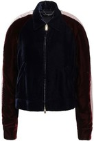 Stella McCartney Appliqued Color-block Velvet Jacket