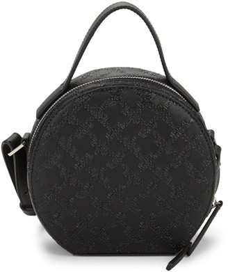 French Connection Marin Embossed Logo Round Mini Bag