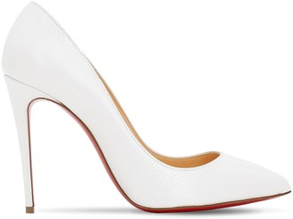 Christian Louboutin 100MM PIGALLE FOLLIES LEATHER PUMPS