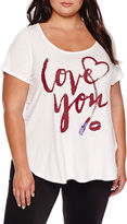 Boutique + Ashley Nell Tipton for Boutique+ Short-Sleeve Graphic Boyfriend Tee - Plus