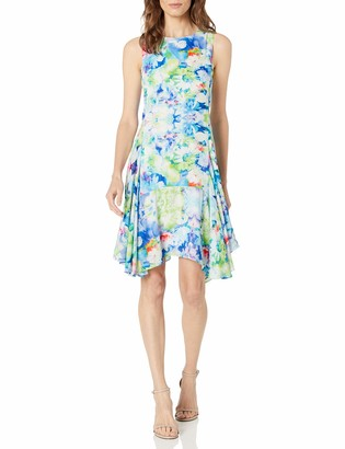 Julia Jordan Women's All Over Floral Printed Sleeveless Dress Sheath