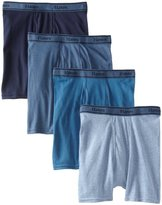 Hanes Men's Tagless Cotton Boxer Briefs (Pack of 4)