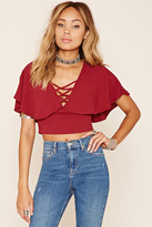 Forever 21 FOREVER 21+ Strappy Open-Back Crop Top