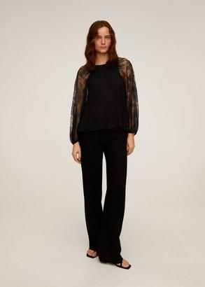 MANGO Lace sleeves blouse