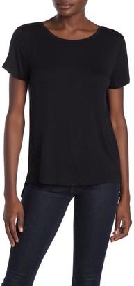Halogen New Step Hem Crew Neck T-Shirt (Regular & Petite)