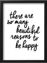 The Art Studio There Are So Many Beautiful Reasons To Be Happy by Brett Wilson (Framed)