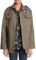 RED Valentino Women's Embroidered Cotton Gabardine Jacket