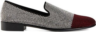 Giuseppe Zanotti Lewis Cup crystal embellished loafers