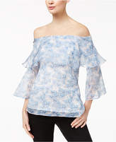 Marella Silk Off-The-Shoulder Top