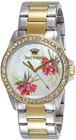 Juicy Couture Womens Quartz Watch, Analogue Classic Display and Gold Plated Strap 1901425