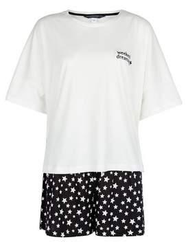 Dorothy Perkins Womens **Tall White Dreaming Cotton Pyjama Set, White