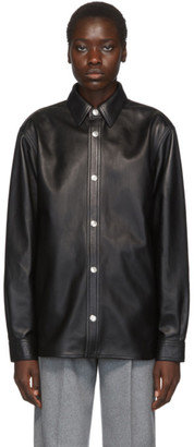 Acne Studios Black Bla Konst Leather Overshirt Jacket