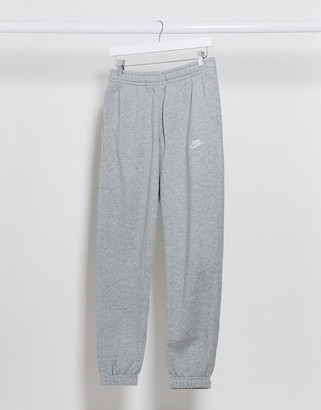 Nike Club casual fit cuffed joggers in grey