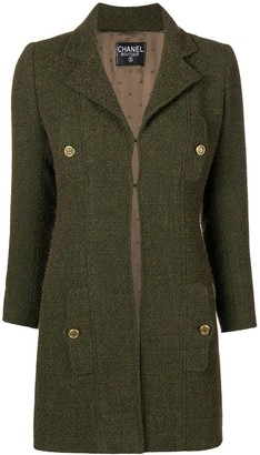 Chanel Pre Owned Pocket Detail Coat