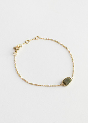 And other stories Stone Pendant Sterling Silver Chain Bracelet