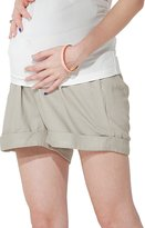 Sweet Mommy Linen Cotton Blend Maternity Shorts GRL