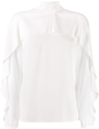 RED Valentino Ruffle-Sleeve Blouse
