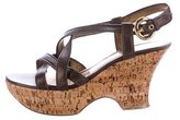 Casadei Cage Wedge Sandals