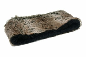 Ladies Soft Animal Faux Fur Snood/Scarf/Neck Warmer One Size SSP (Natural)