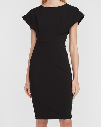 Express Cap Sleeve V-Back Sheath Dress