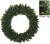 Asstd National Brand 5 Ft. Pre-Lit Commercial Canadian Pine Artificial Christmas Wreath with Multi-Color Lights