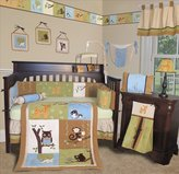 Sisi Custom Baby Bedding - Forest Friends 13 PCS Crib Bedding Set