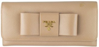 Prada Beige Leather Wallets
