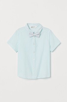 H&M Cotton Shirt and Bow Tie