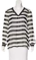 Brooks Brothers Striped Silk Top