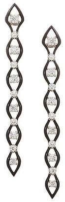 Etho Maria Diamonds In Color 18K White Gold, Diamond & Ceramic Linear Earrings