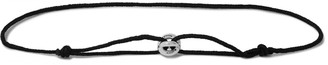 Le Gramme Maillon Sterling Silver And Cord Bracelet