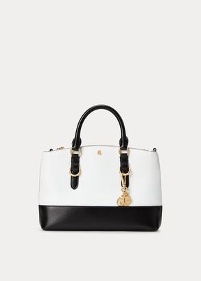 Ralph Lauren Saffiano Mini Leather Satchel