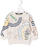 Kenzo logo print sweatshirt - kids - Cotton/Polyester - 3 mth