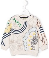 Kenzo logo print sweatshirt - kids - Cotton/Polyester - 9 mth