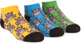 Trumpette Blue & Green Robot Ankle Sock Set - Boys