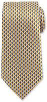 Ermenegildo Zegna Neat 3D Diamond Printed Silk Tie, Yellow