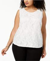 Kasper Plus Size Lace Shell