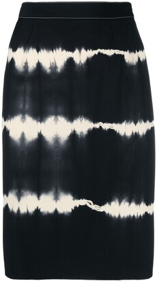Gucci Pre-Owned 1990s Tie-Dye High-Waisted Skirt