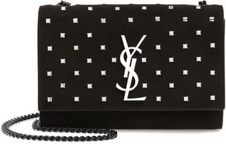 Saint Laurent Small Kate Crystal Embellished Suede Crossbody Bag