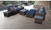 Kathy Ireland Homes & Gardens By Tk Classics Homes & Gardens River Brook 10 Piece Sectional Seating Group Homes & Gardens by TK Classics Cushion Color: Midnight