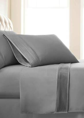 SOUTHSHORE FINE LINENS King Sized Premium Collection Double Brushed Extra Deep Pocket Pleated Sheet Set - Steel Grey