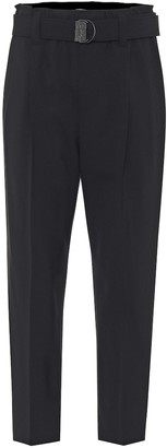 Brunello Cucinelli High-rise cropped straight pants