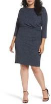 Eliza J Plus Size Women's Gathered Sheath Dress