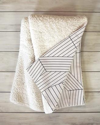 Express Deny Designs Line Mandala Sherpa Throw Blanket