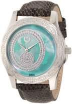 Brillier Women's 03-41626-01 Kalypso Dial Puprle Snakeskin Watch