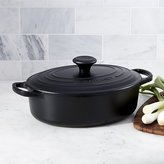 Crate & Barrel Le Creuset ® Signature 3.5-Qt. Oval Licorice French Oven with Lid