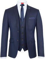 Lambretta Textured Slim-fit Three Piece Suit